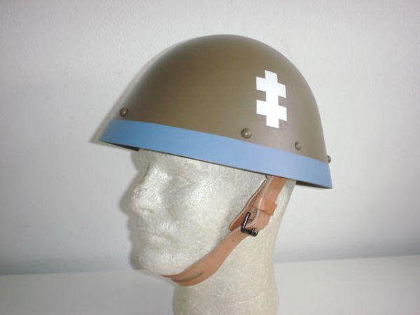 Czech Slovak German ally army original WW2 WWII M32 EGG SHELL helm